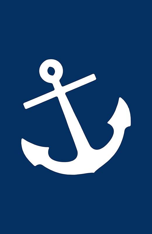 Quot Navy Blue Anchor Quot Canvas Prints By M Studio Designs