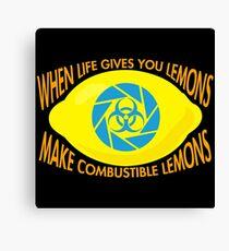 Combustible Lemons Canvas Print