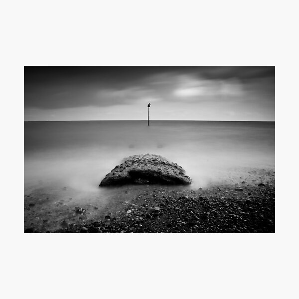 70 second exposure on Eastbourne seafront Photographic Print