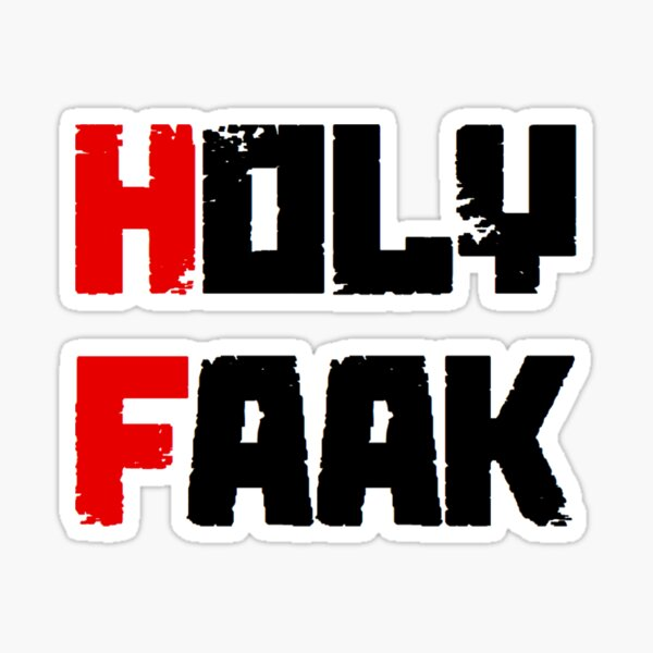 Russkeey Designs (Holy Faak) Sticker