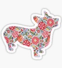 Corgi Preppy Print Sticker