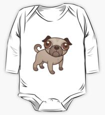 Pug Puppy Cartoon One Piece - Long Sleeve