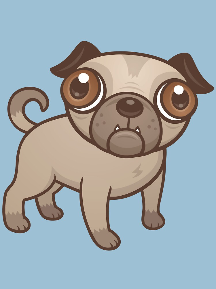 Pug Puppy Cartoon | Unisex T-Shirt