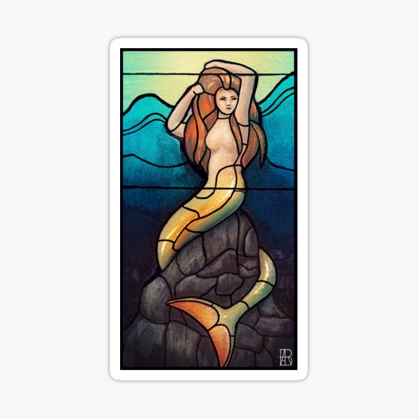 Stained Glass Mermaid  Sticker