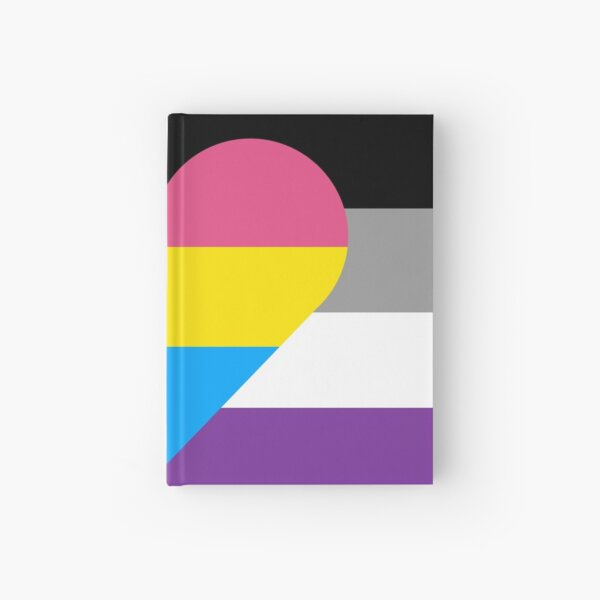 Panromantic Asexual Hardcover Journal