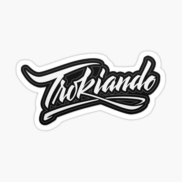 Logotipo Trokiando Blanco Pegatina
