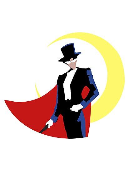 Tuxedo Mask on White by Mramirez91