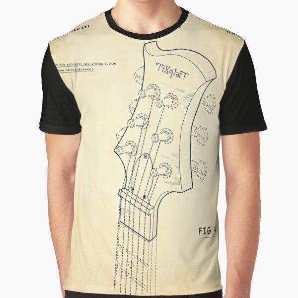 Guitar Tuning Head for Six String Graphic T-Shirt