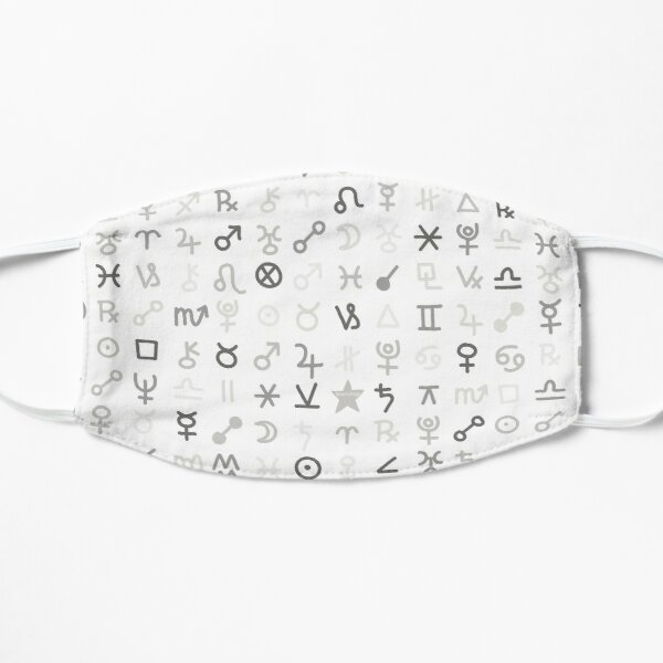 Astrology Symbols and Signs Blue Pattern Mask
