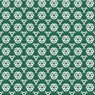 Vintage Irish Green Baroque Wallpaper by pjwuebker