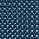 Vintage Blue Baroque Wallpaper by pjwuebker