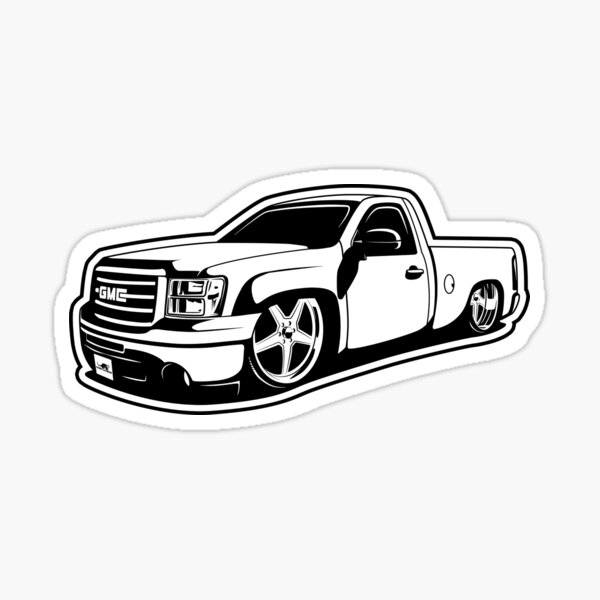 GMC Single Cab - Billet Wheels Sticker