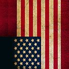 United States Flag in Grunge by pjwuebker
