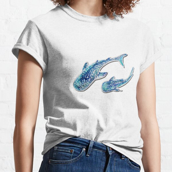 Whale Shark on Ocean pink Classic T-Shirt