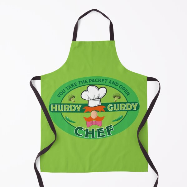 Hurdy Gurdy Bork Bork Bad Chef - Bad Cook Apron Gifts - Lazy Funny Cooks - Funny Swedish Chef Apron