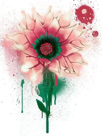 Splatter Flower by Keelin  Small