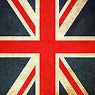 Great Britian Flag in Grunge by pjwuebker