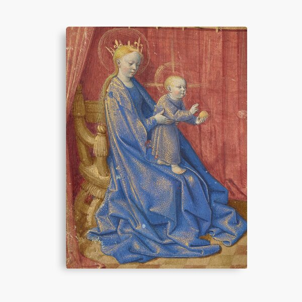 Hours of Simon de Varie - Jean Fouquet, and Dunois Master, and Master of Jean Rolin II Canvas Print