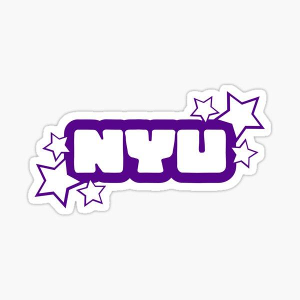 NYU letters Sticker