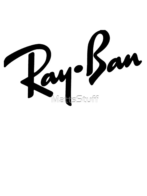 Quot Ray Bans Logo Graphic Tee Quot Stickers By Mattsstuff