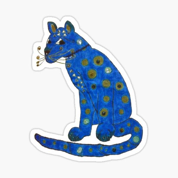 ABBA Cat Blue  Sticker