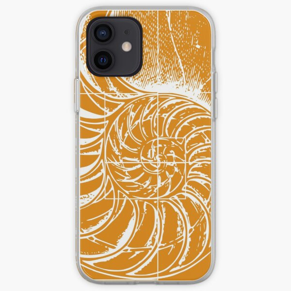 Fibonacci on a nautilus shell (orange) iPhone Soft Case