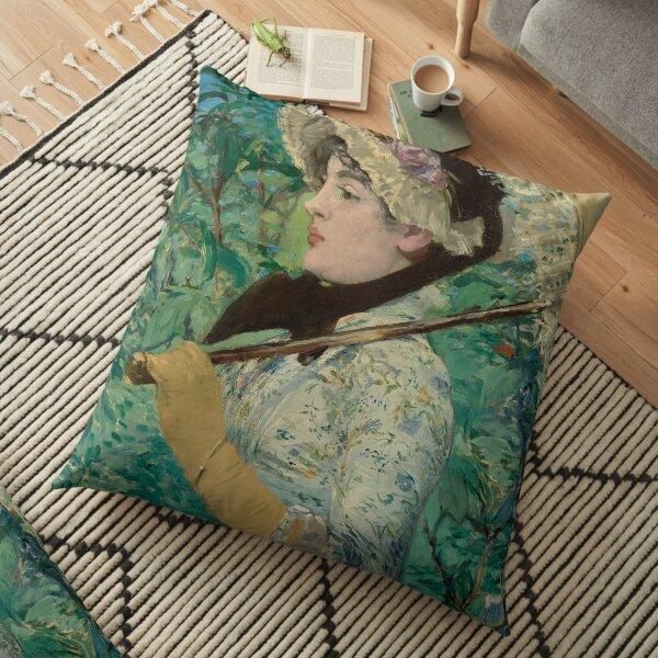 Jeanne (Spring) - Édouard Manet Floor Pillow