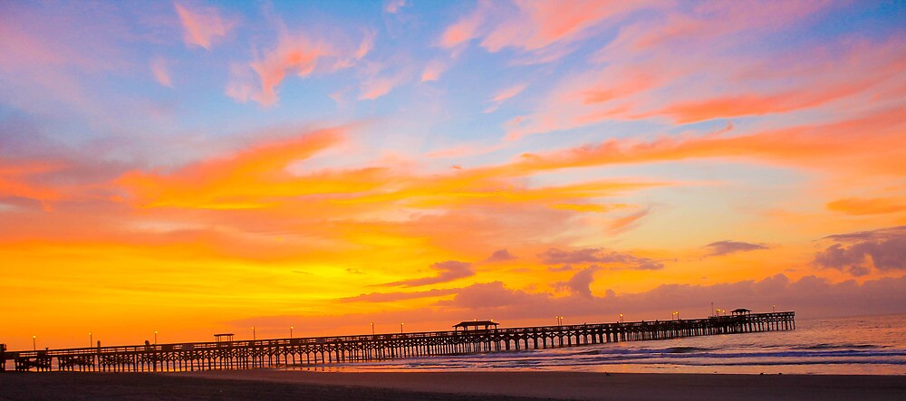Picturesque Pier Sunrise by donaldhovis