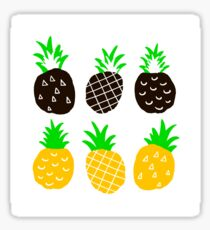 Black pineapple Sticker