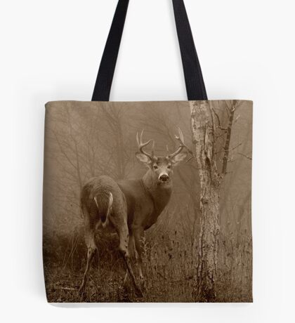 White-tailed Deer Buck in Sepia Tote Bag