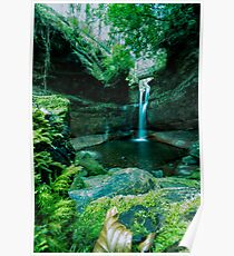 Kelburn Castle Waterfall Poster