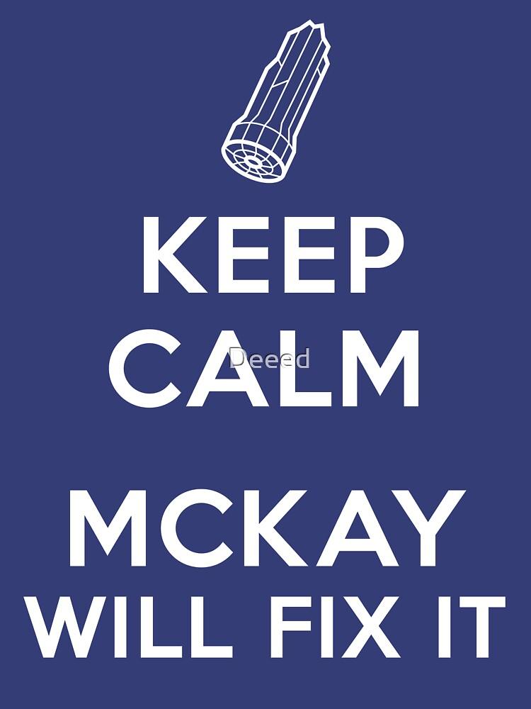 TShirtGifter presents: Keep Calm, McKay will fix it   Unisex T-Shirt