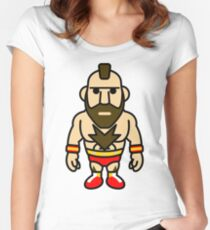 Zangief, the Red Cyclone of Street Fighter Women's Fitted Scoop T-Shirt