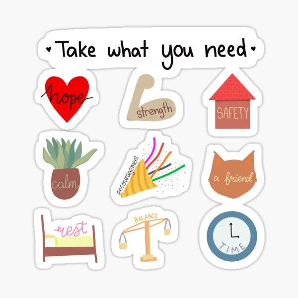 Self care needs Sticker