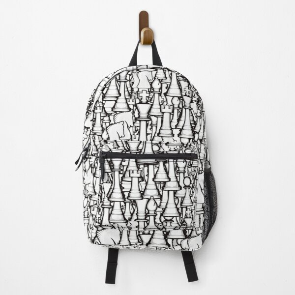 Chess Pattern II WHITE Backpack