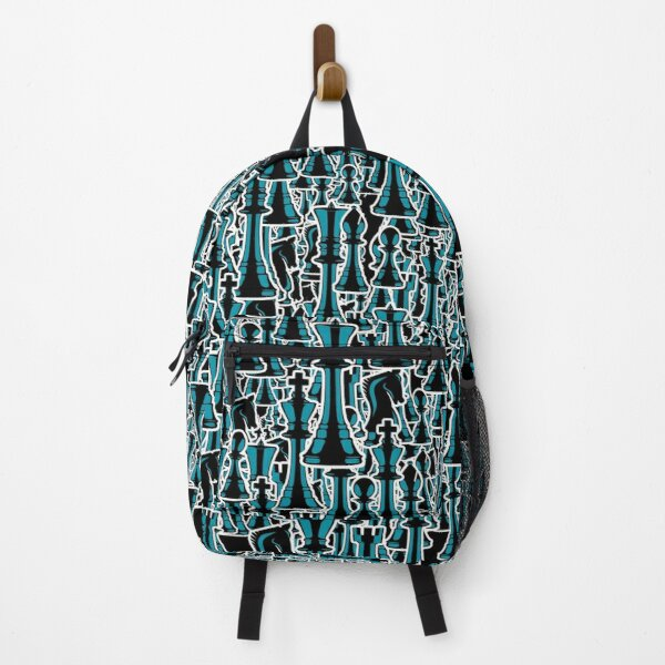 Chess Pattern II BLACK Backpack