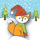 Snow Fox by pondlifeforme