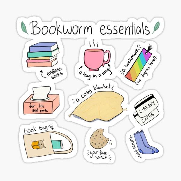 Bookworm essentials Sticker
