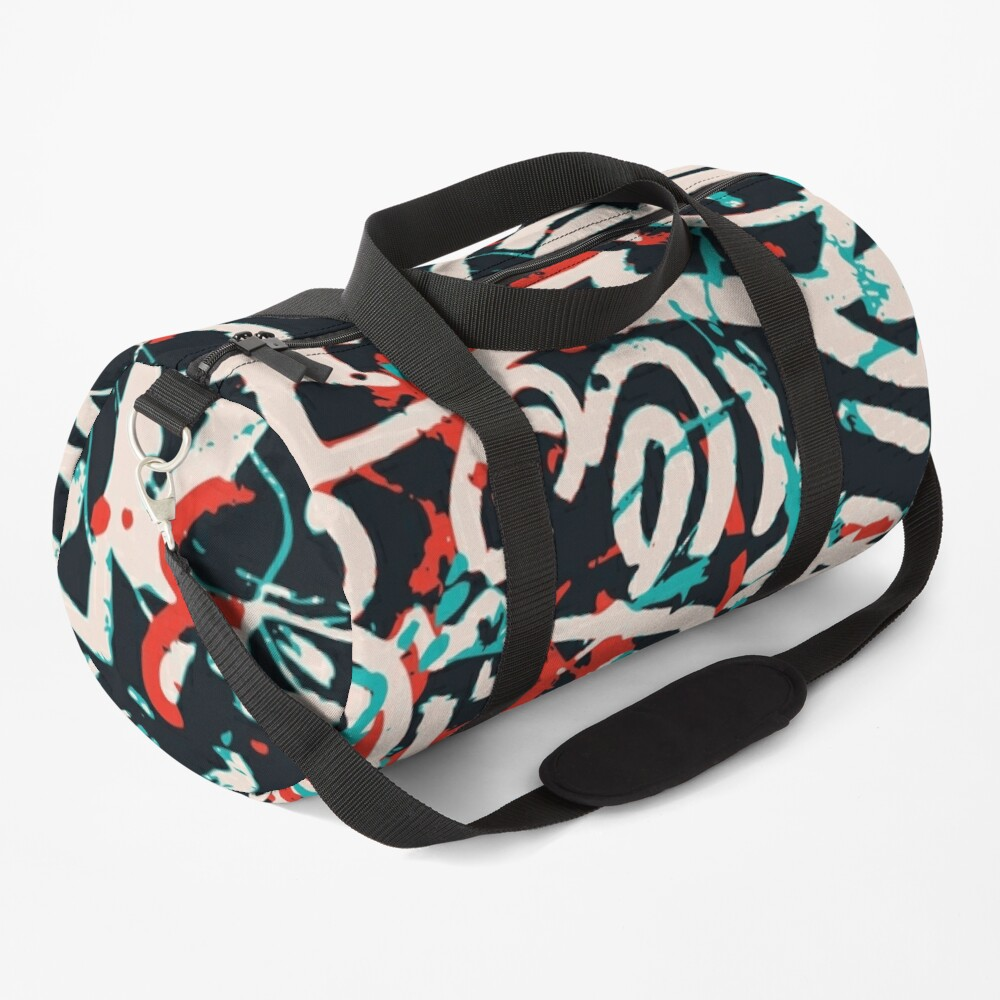 Street Art Graffiti Pattern Ink and Posca  Duffle Bag