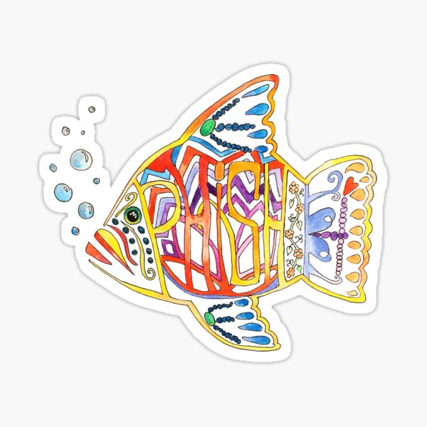 Phish paintcolor Sticker