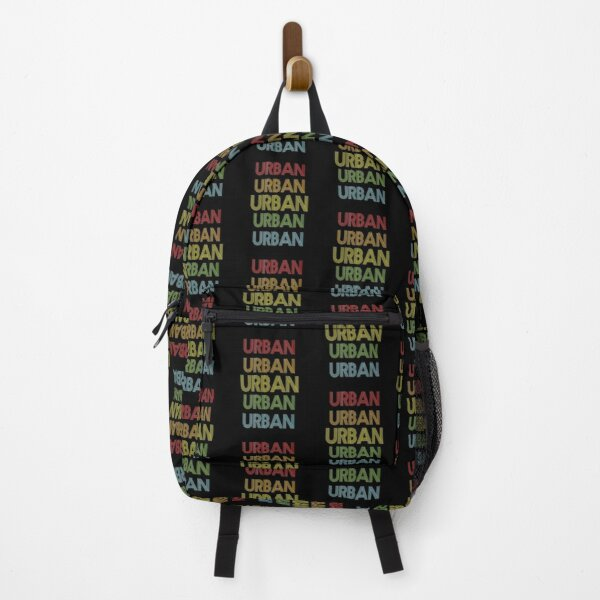 Urban Name - Urban Rainbow Multi Color Gift For Family Surname Urban Name Backpack