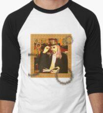 Steampunk Library Men's Baseball ¾ T-Shirt