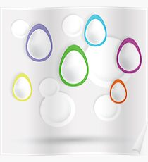 easter eggs paper  background Poster