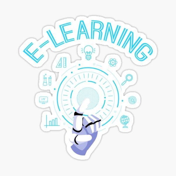 Funny E-Learning Teacher   Gift    Sticker