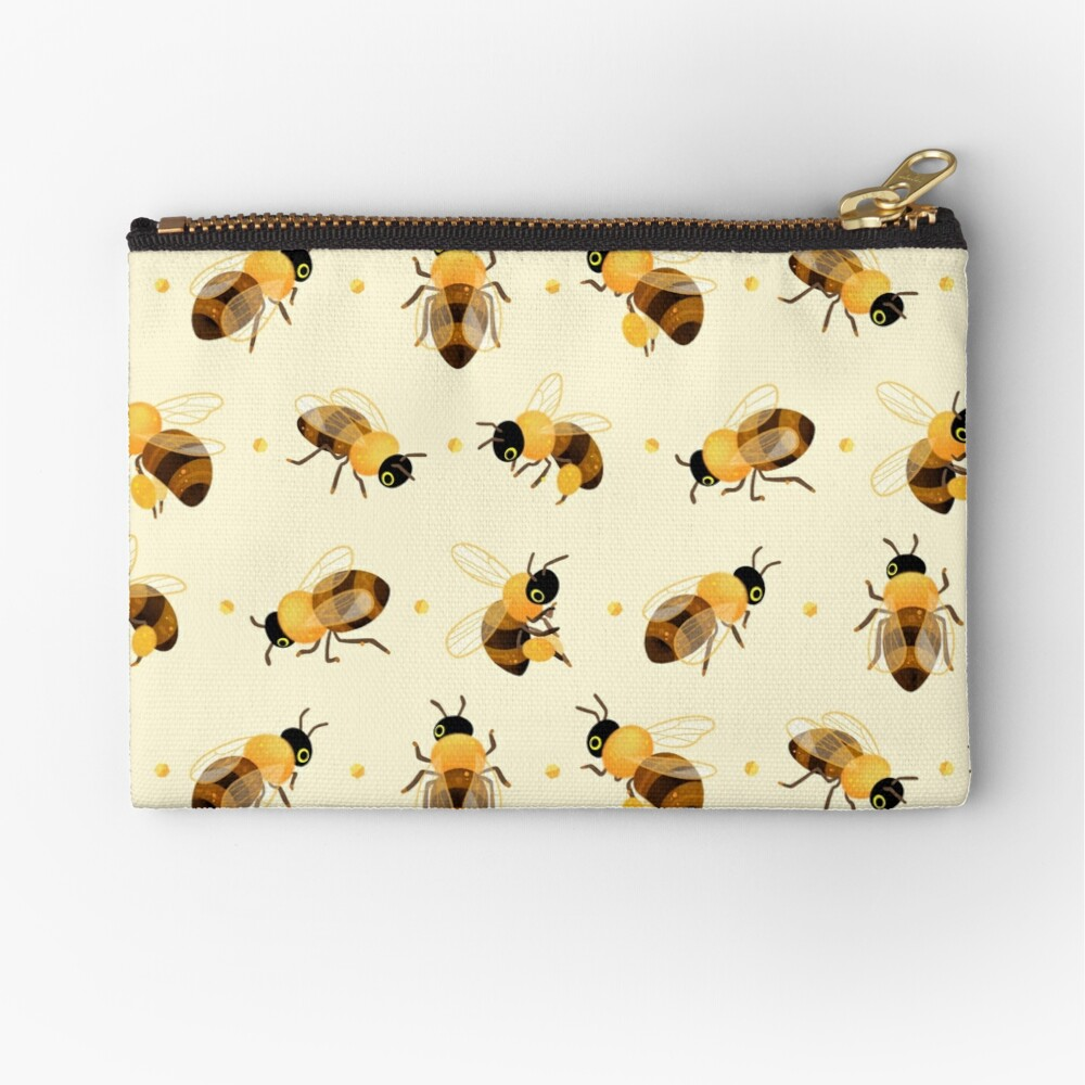 Honey bees Zipper Pouch