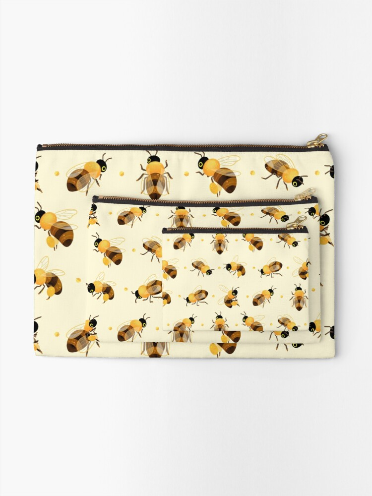 Alternate view of Honey bees Zipper Pouch