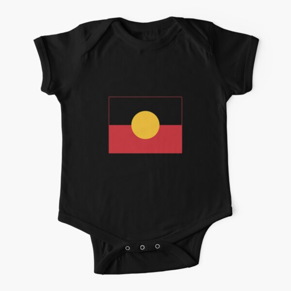 The Aboriginal Flag #4 Short Sleeve Baby One-Piece