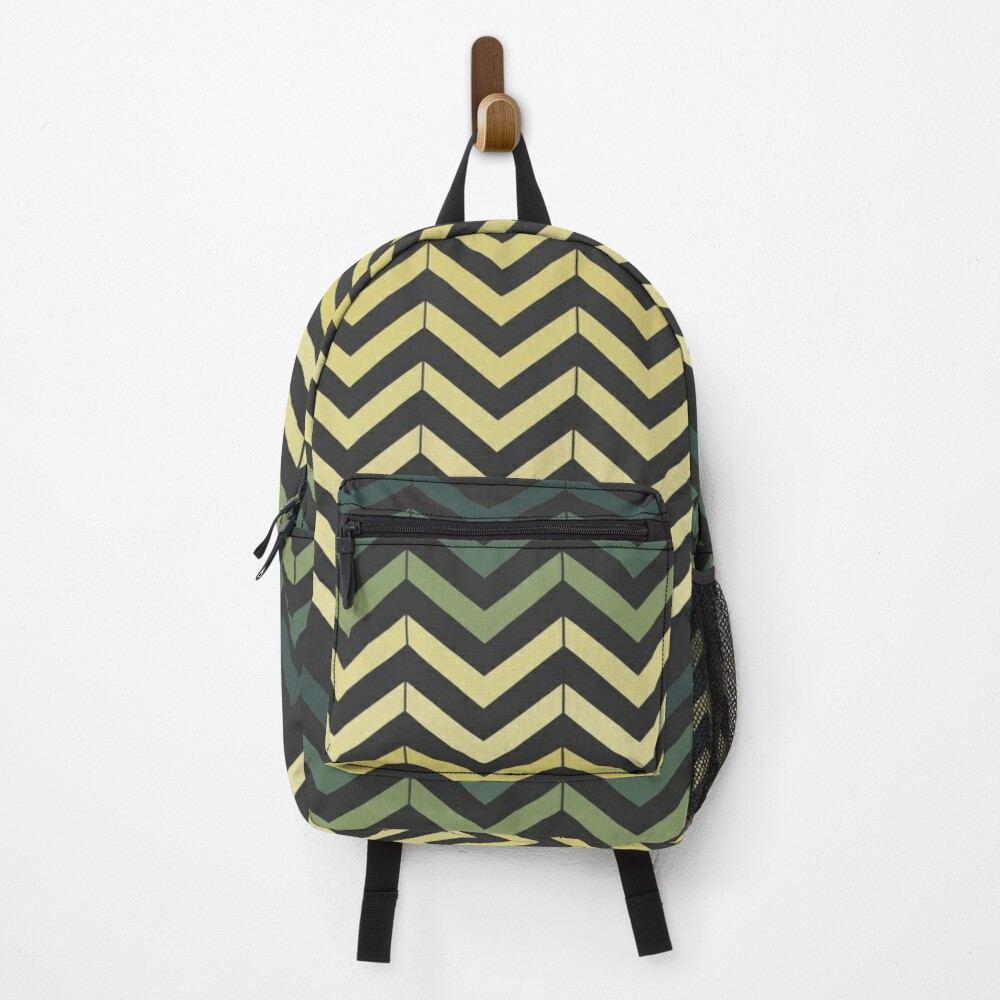 Small yellow and green waves Backpack