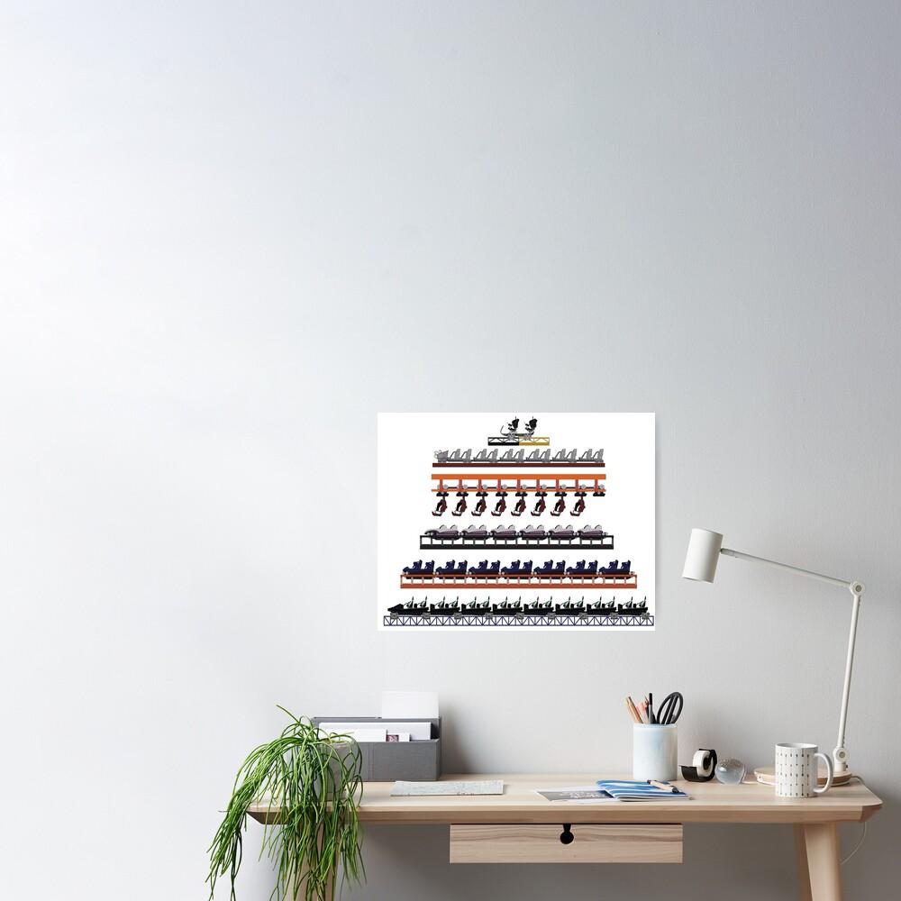 Walibi Holland Coaster Trains Design Poster