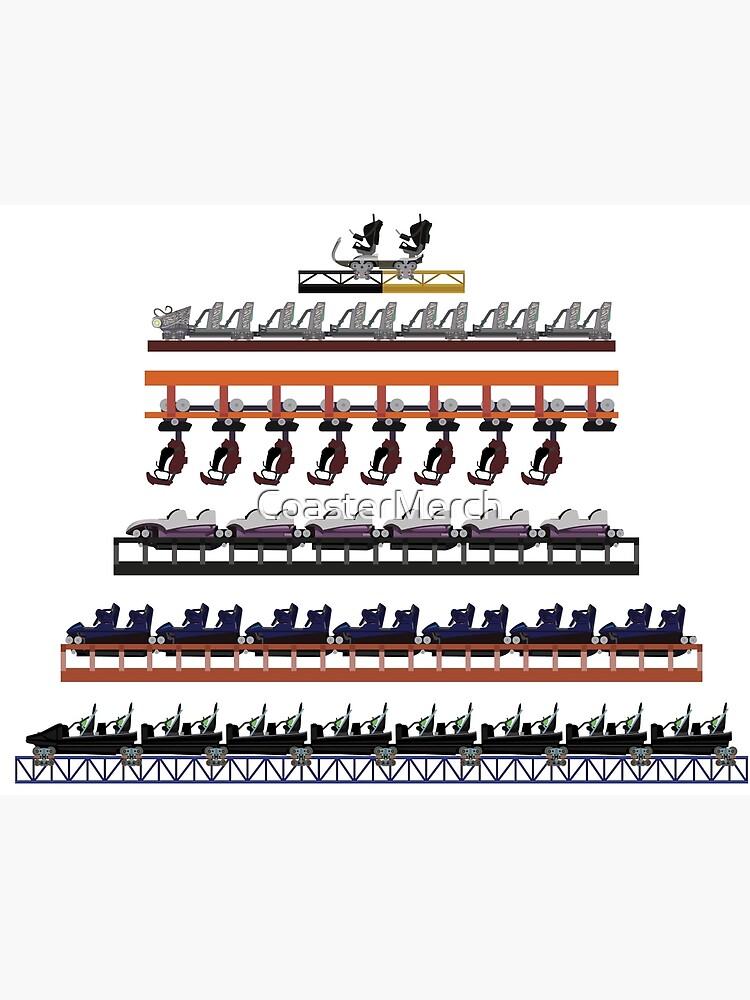 Walibi Holland Coaster Trains Design by CoasterMerch